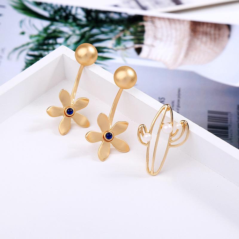 Fashion asymmetric cactus beads earrings NHQD142464