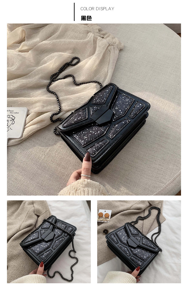 Retro bag  wild fashion autumn and winter patent leather shiny new shoulder messenger bag NHLD187241