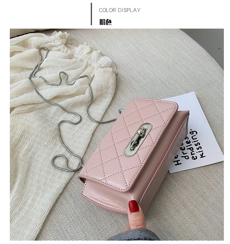 Small bag female new fashion girl shoulder chain portable Messenger small square bag NHLD176825
