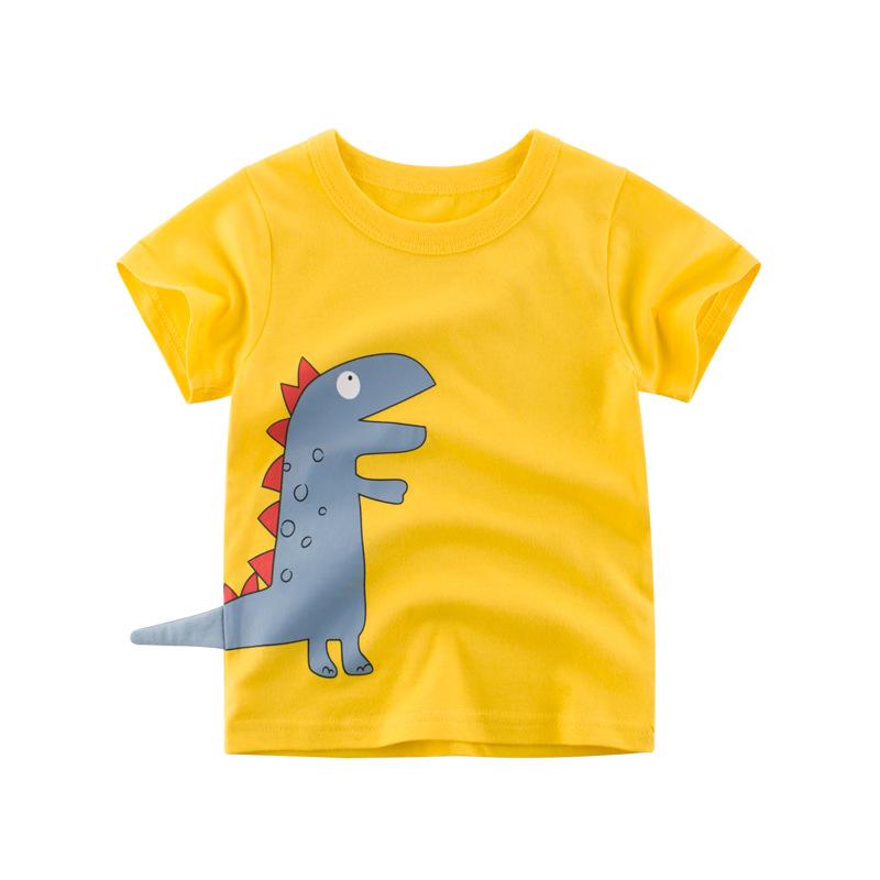 Baby Kids Boys Girls T-shirt Cartoon Short Sleeve Summer Casual Cotton Tee Tops