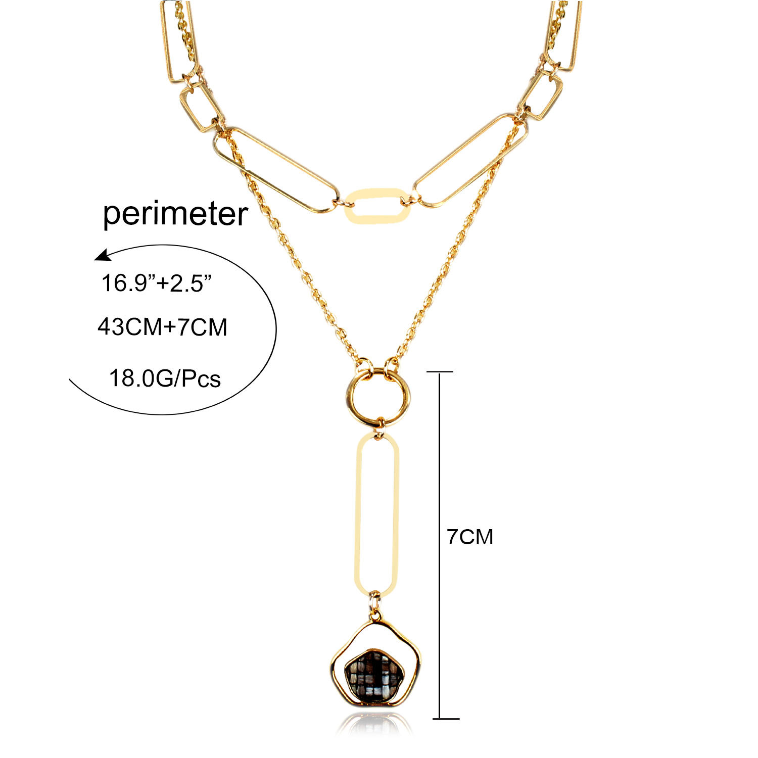 Womens Floral Electroplated Aluminum Necklaces NHCT130492