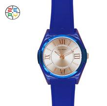厦门厂家精致潮流大表盘罗马数字合金表壳硅胶表带定制手表