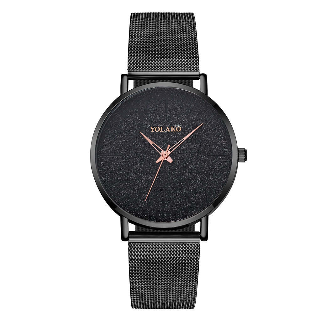 New Fashion Men's Watch New British Style Ultra-Thin Alloy Three-Pin Mesh Men's Watch NHSY202018