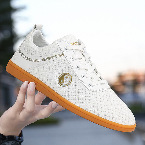 Tai Chi Chinese kung fu shoes for unisex breathable cloth wushu practice shoes soft rubber soles martial arts training sports shoes for men and women