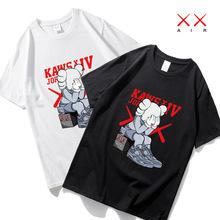 芝麻街联名t恤短袖丅潮牌潮流嘻哈港风联名动漫画男女情侣装白色
