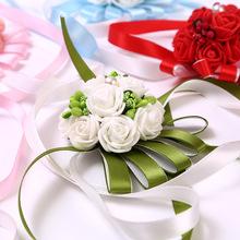 婚庆结婚新娘婚礼唯美小姐妹韩式手腕花胸花伴娘清新团手花