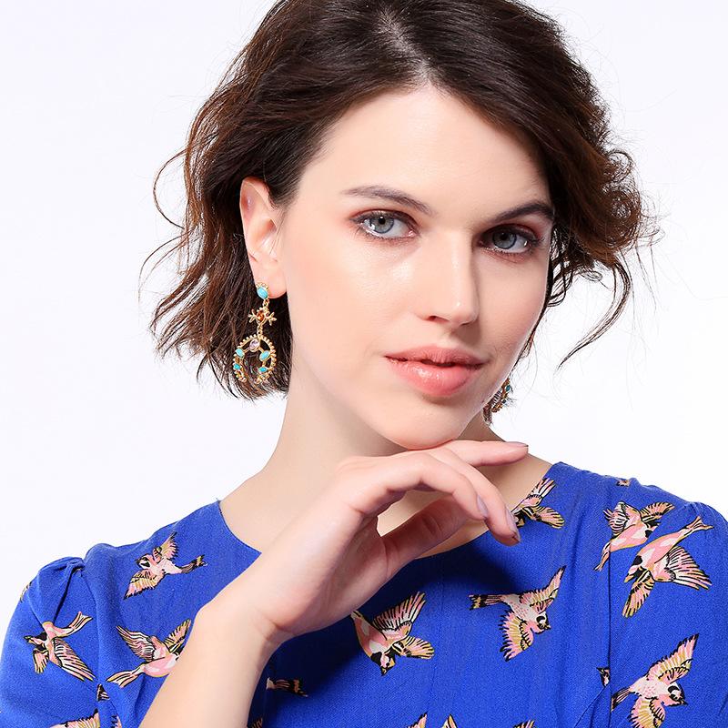 Alloy Fashion Geometric earring  (Photo Color)  Fashion Jewelry NHQD6234-Photo-Color