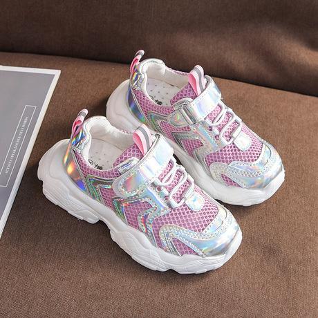 Xuân 2019 Giày thể thao trẻ em mới phiên bản Hàn Quốc của giày chạy bộ sáng màu cho bé trai và bé gái