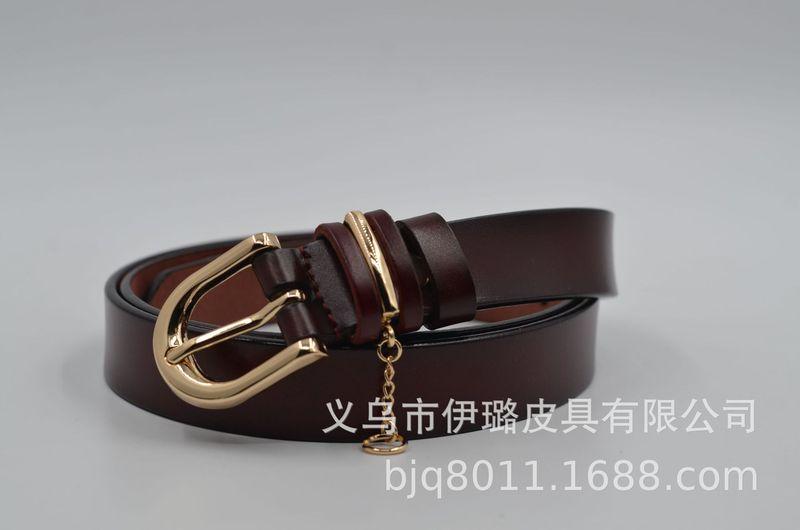 ខ្សែក្រវ៉ាត់នារី Women Casual Explosion Style Leather Belt PZ350549