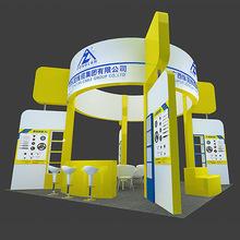 上海铝型材展台制作租赁36平方展台搭建设计制作54平方展台