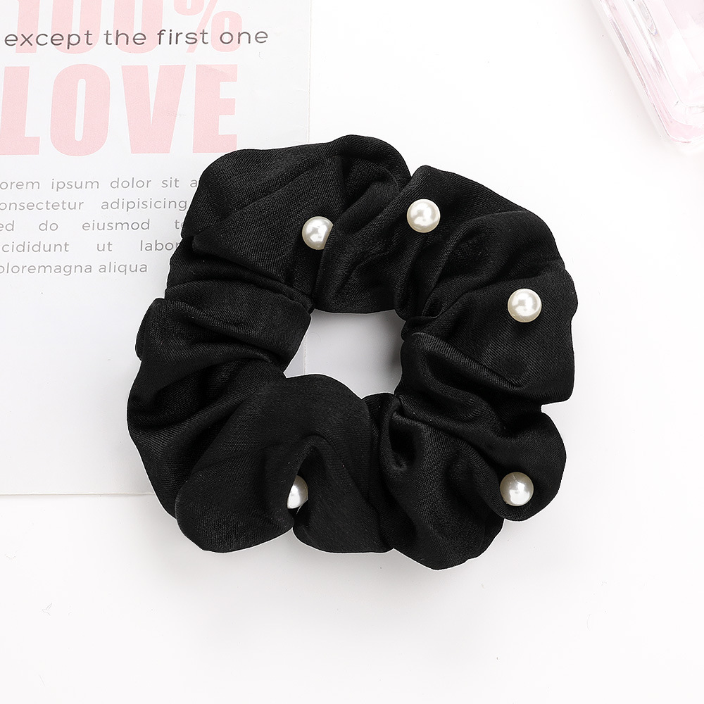 New Korean pearl hair ring simple fashion fabric cheap hair ring wholesale NHDM205034