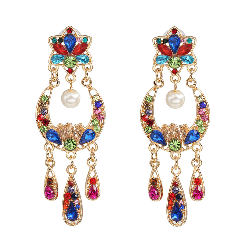 Fashion Baroque Vintage Alloy Fringe Stud Earrings NHJJ171187