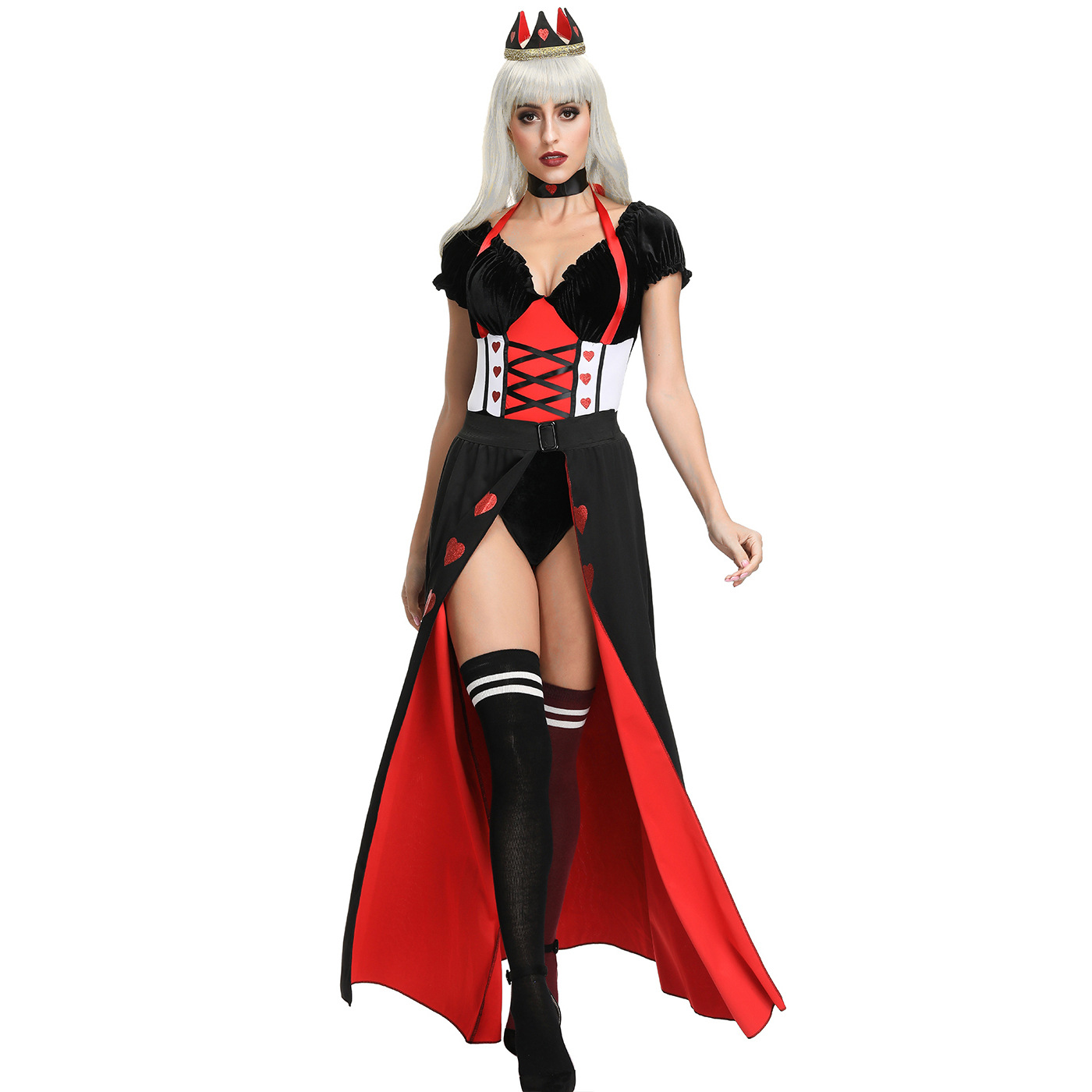 peach heart queen court dress cosplay costume nihaostyles wholesale halloween costumes NSMRP79033