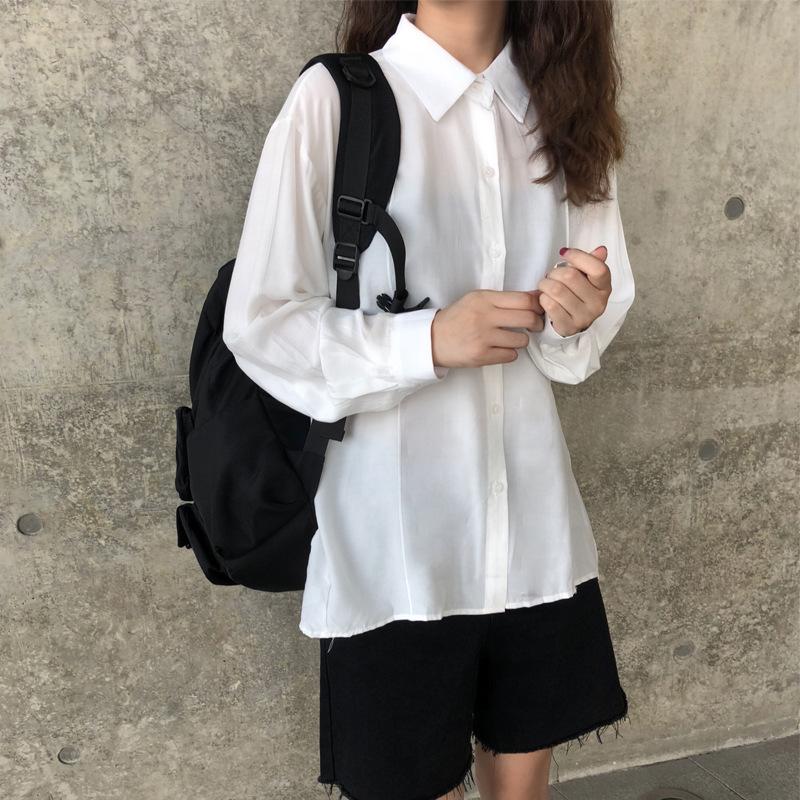 港风秋季格子衬衫ins长袖韩版帅气休闲衬衣外套网红很仙的上衣女