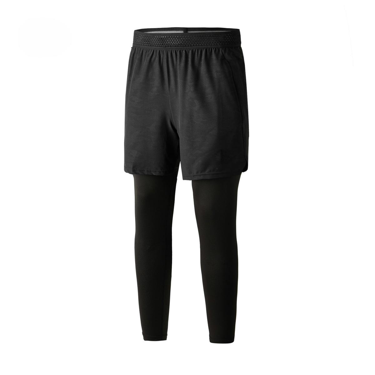 UA BRAV男短裤紧身裤假两件健身房训练运动跑步弹力束脚压缩裤长