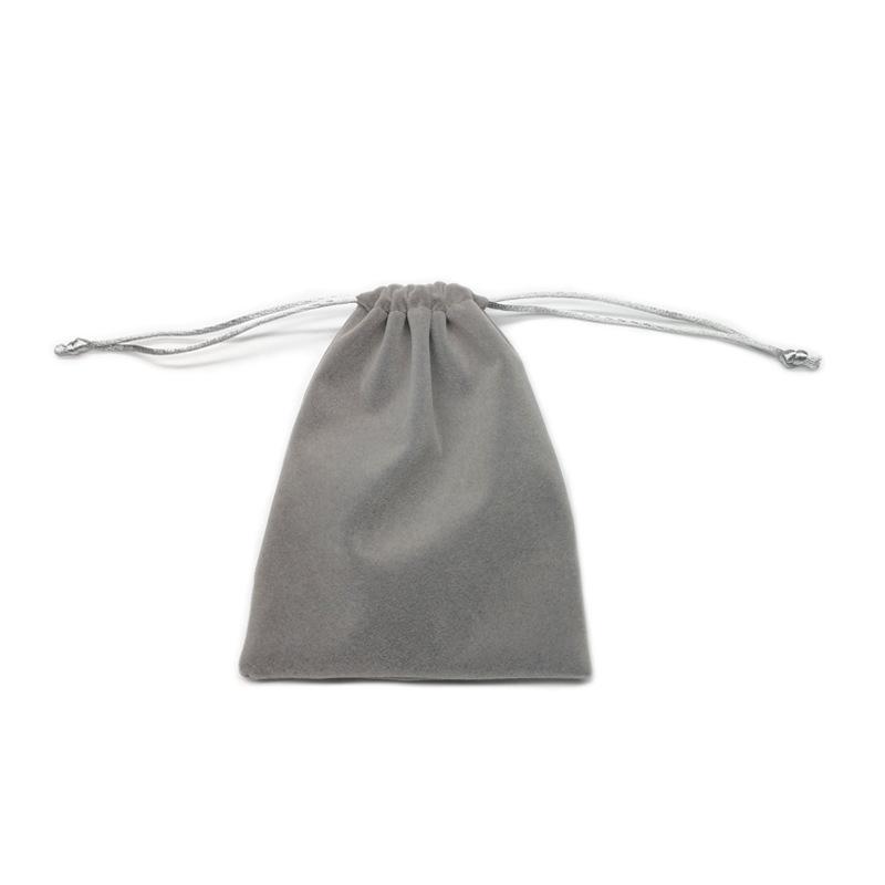 厂家批发定制植绒面料珠宝绒布袋饰品绒布拉绳袋束口袋