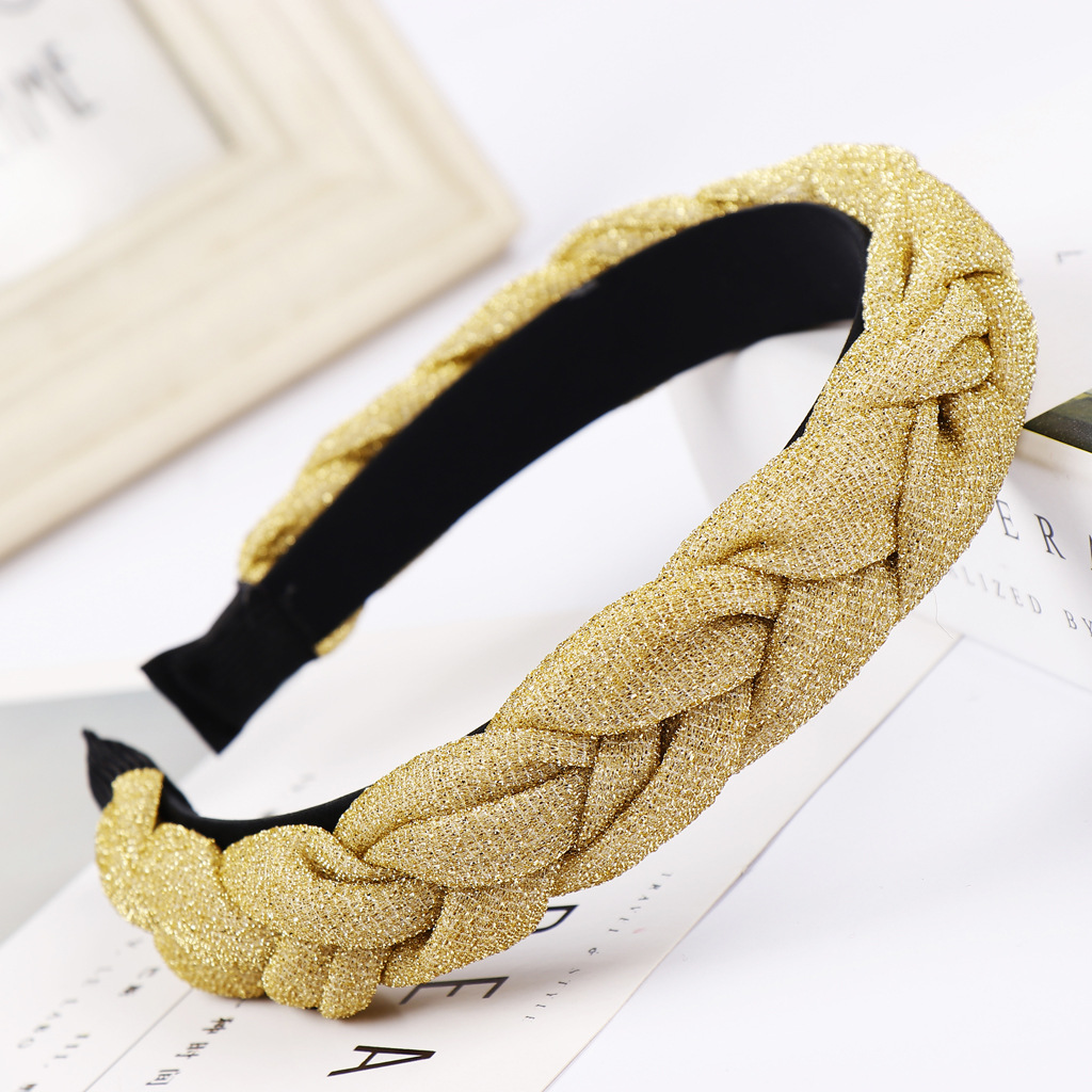 New bright silk cloth braid headband multicolor NHHV139958
