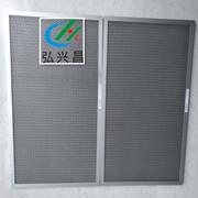 耐高温反冲洗过滤器 可洗式金属铝网空气过滤器 耐酸碱金属过滤网