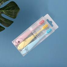3支裝兒童牙刷2-3-4-5-6歲軟毛家用小頭細毛卡通寶寶牙刷廠家批發