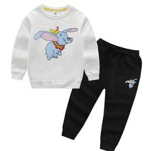 儿童夏季新款纯棉卫衣两件套小孩圆领中大童男女春秋套装潮 批发