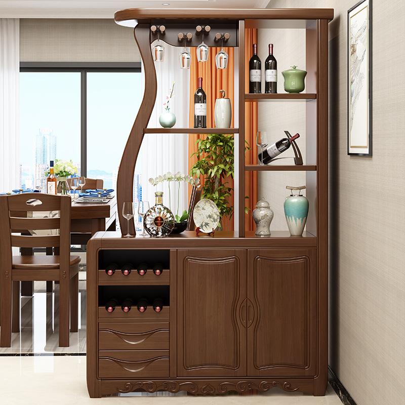中式門廳玄關柜實木酒柜現代客廳餐廳雙面隔斷柜實木間廳柜裝飾柜