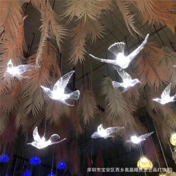 Новый свадьба реквизит свет прозрачный аска благоприятный птица люстра свадьба этап сайт ткань положить декоративный свет оптовая торговля