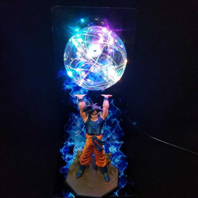 14/'/' Anime Dragon Ball Z Super Saiyan SON GOKU Genki Spirit//Bomb Figure/&DIY Lamp