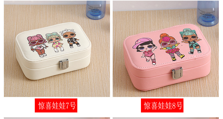 double-layer jewelry box jewelry storage box Korean watch necklace earring box wholesale nihaojewelry NHHO233520