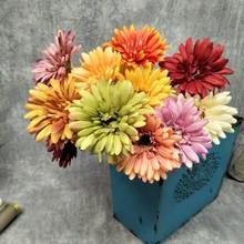 廠家直銷非洲菊 仿真太陽花 歐式假花 家居裝飾小清新仿真花
