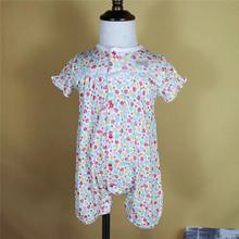 日本bq爬服連體衣哈衣夏季嬰童童裝透氣短袖女孩女外貿童裝