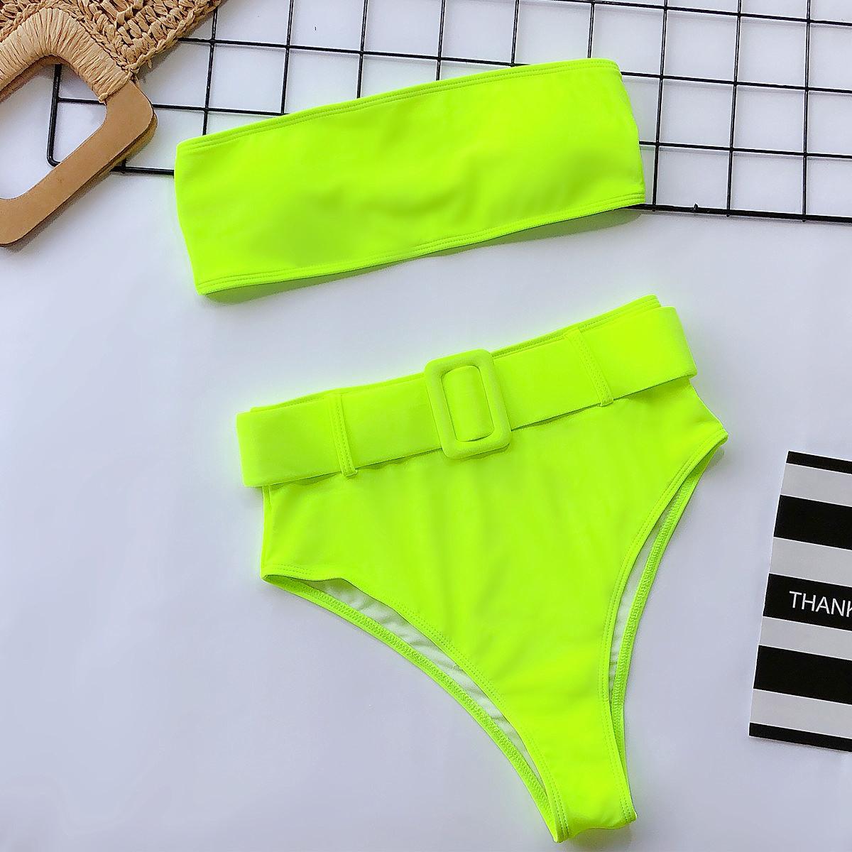 hot sale bikini swimwear high waist printed swimsuit   NSDA1214