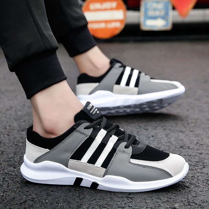 Summer classic black and white low top casual shoes new men's shoes breathable sports shoes boys' fashion tourism trend