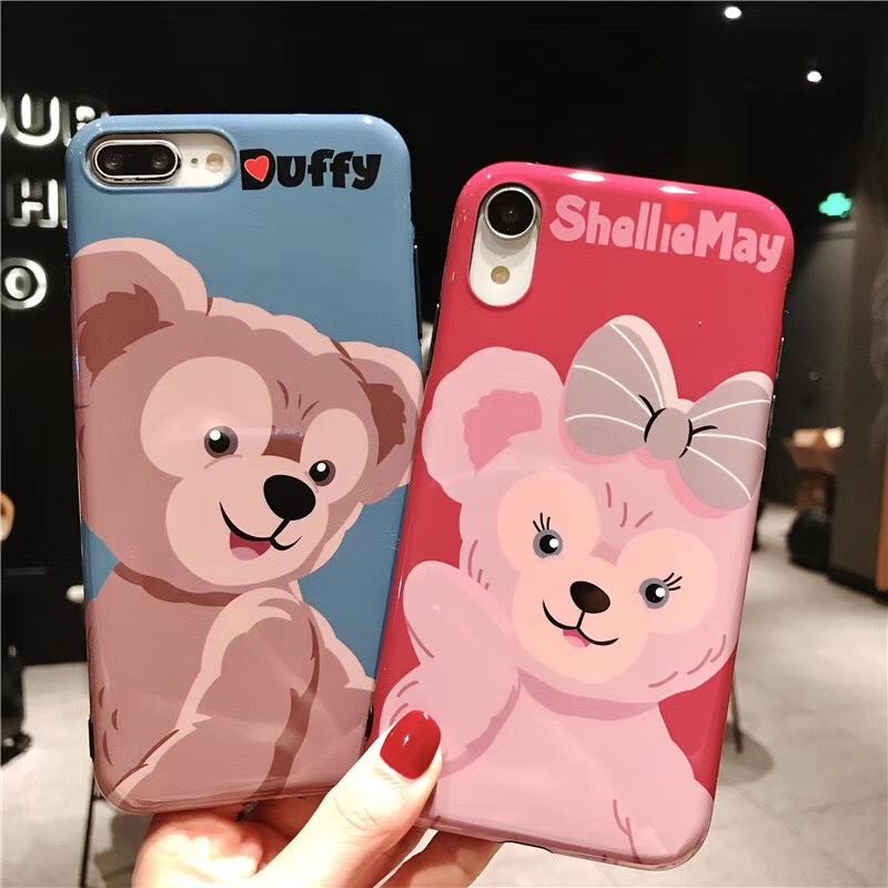 Cute cartoon Duffy Bear mobile phone case for iPhoneXS Max/8/7plus Apple 6s soft case