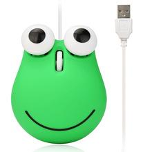 可爱卡通造型鼠标 创意可爱女生大爱青蛙造型有线鼠标USB光电鼠标