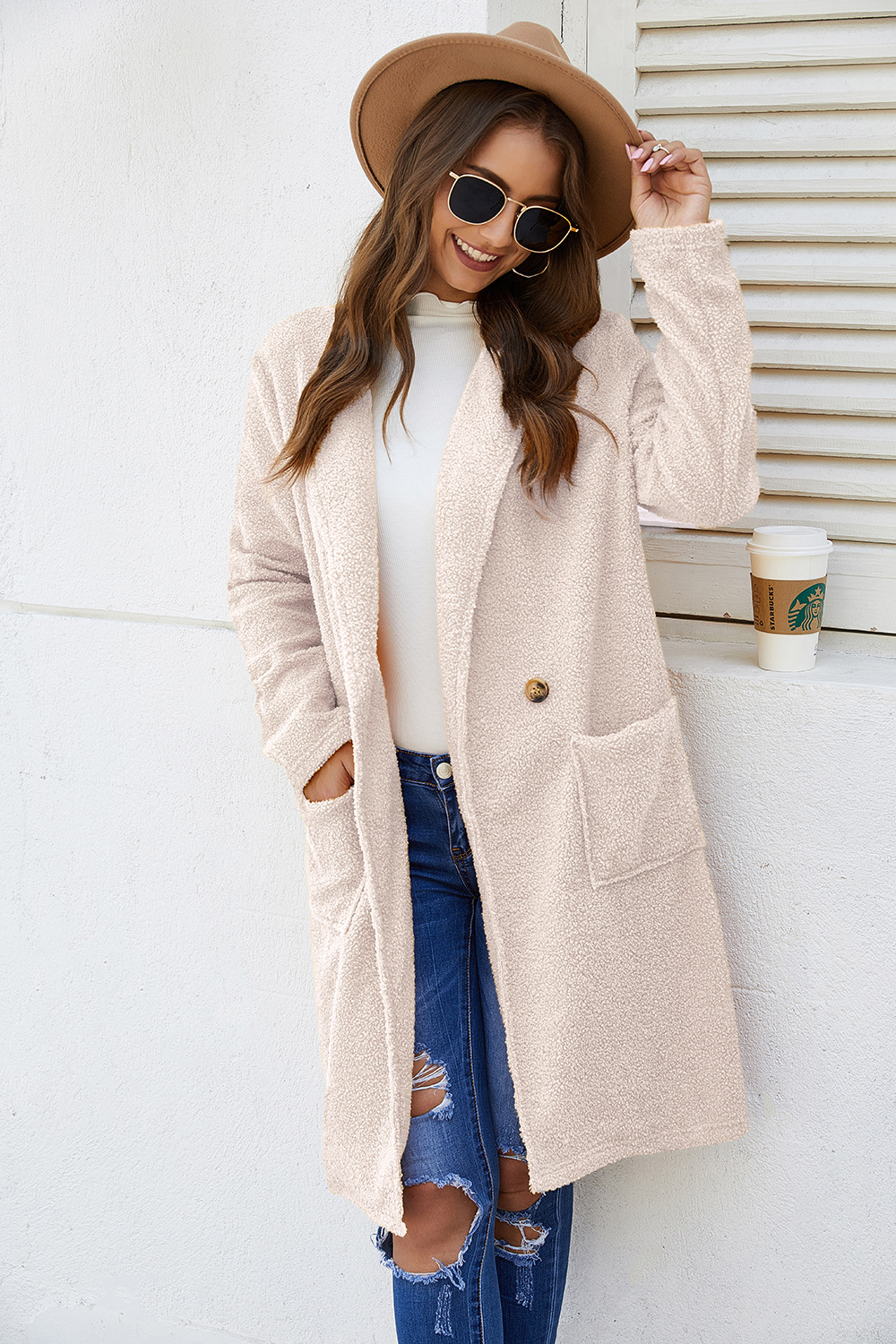 double-sided autumn and winter jacket long sleeves NSDF3050