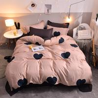 2019 новая постельная лилия постельное белье просто супер мягкий чистый печатных четыре части простыня пододеяльник домашний текстиль