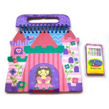 热销 手提式儿童蜡笔画本画册 手工画本 蜡笔DIY 可订制印刷