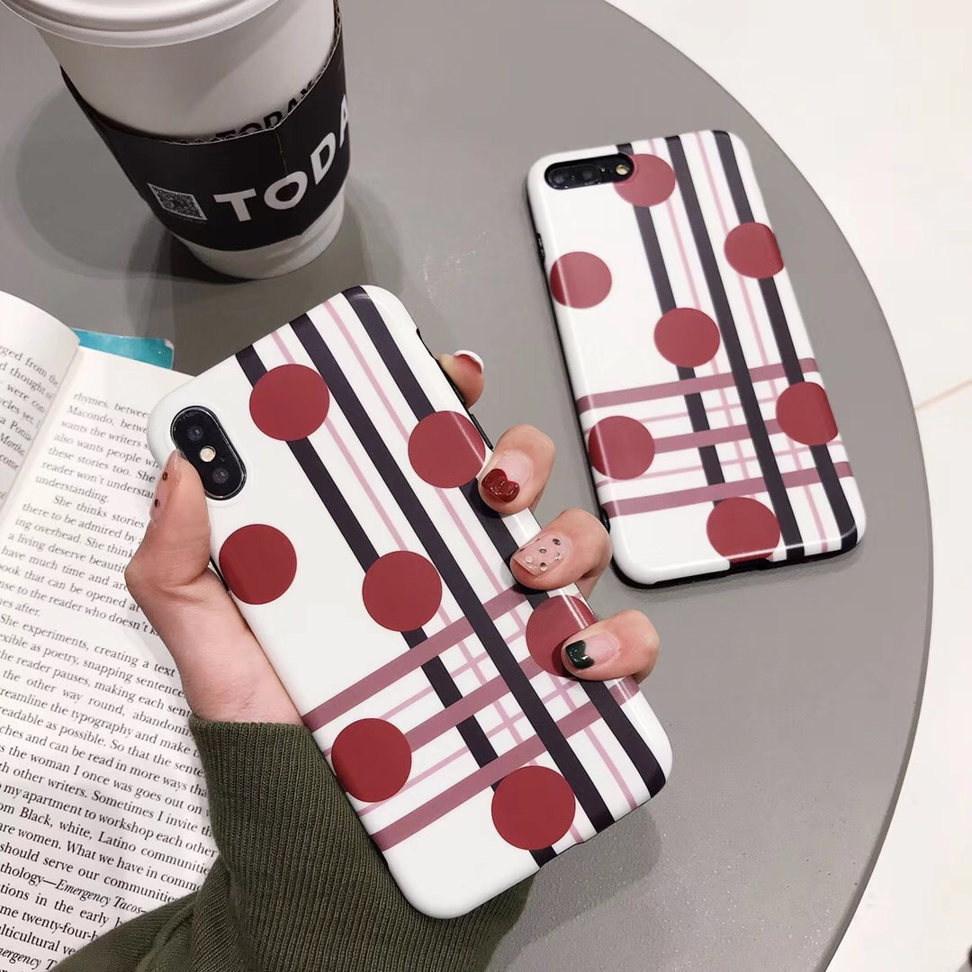 Wave point for iPhone7/8plus mobile phone shell Apple XR/XS Max personality matte silicone soft shell female models