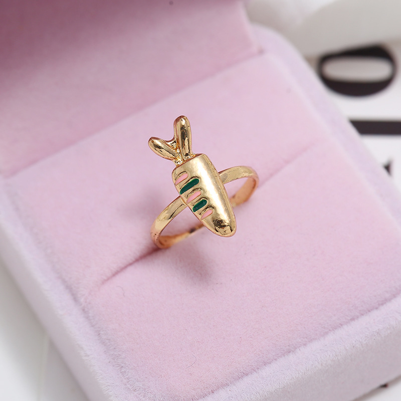 European and American simple carrot opening adjustable alloy ring NHKQ152284