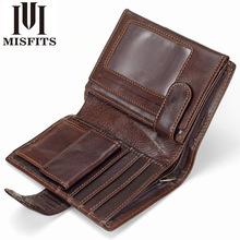厂家直销速卖通跨境男士短款钱包复古真皮零钱夹头层牛皮竖款皮包