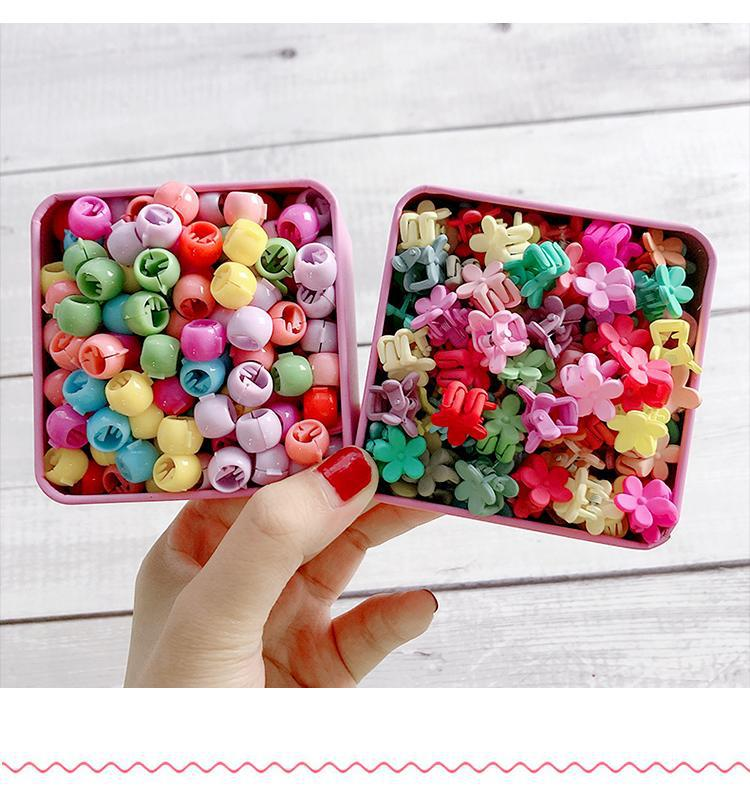 100 pieces of colorful flower hairpin beanie clips Korean girls small hair clips NHNA207447