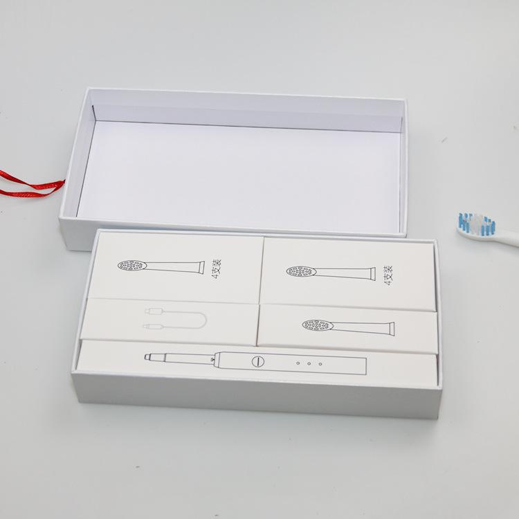 厂家定做高档充电式电动牙刷礼品包装盒 电子产品纸盒logo定制