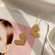 韩国东大门不对称金属耳环耳钉欧美几何爱心形个性气质耳钉耳饰