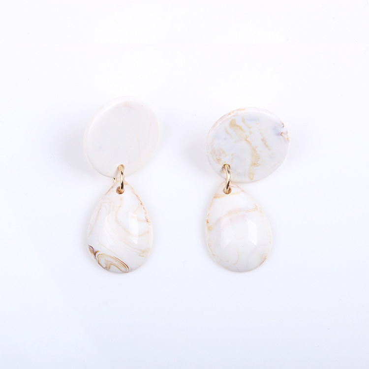 Plastic Fashion Geometric earring  (white)  Fashion Jewelry NHMD5179-white