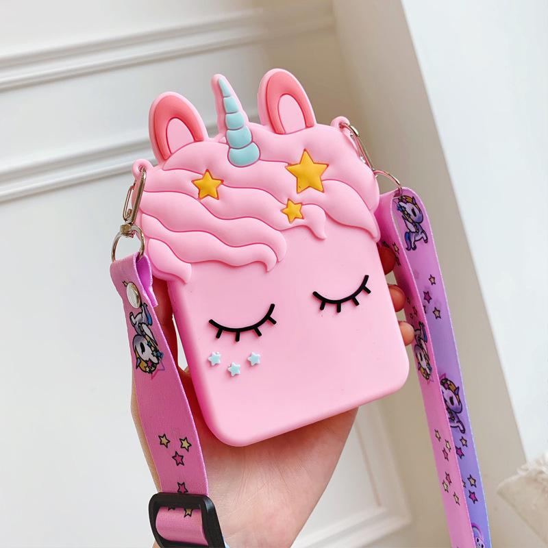 Cute cartoon pudding dog coin purse silicone storage bag personality creative girl new diagonal backpack wallet soft NHFI218538