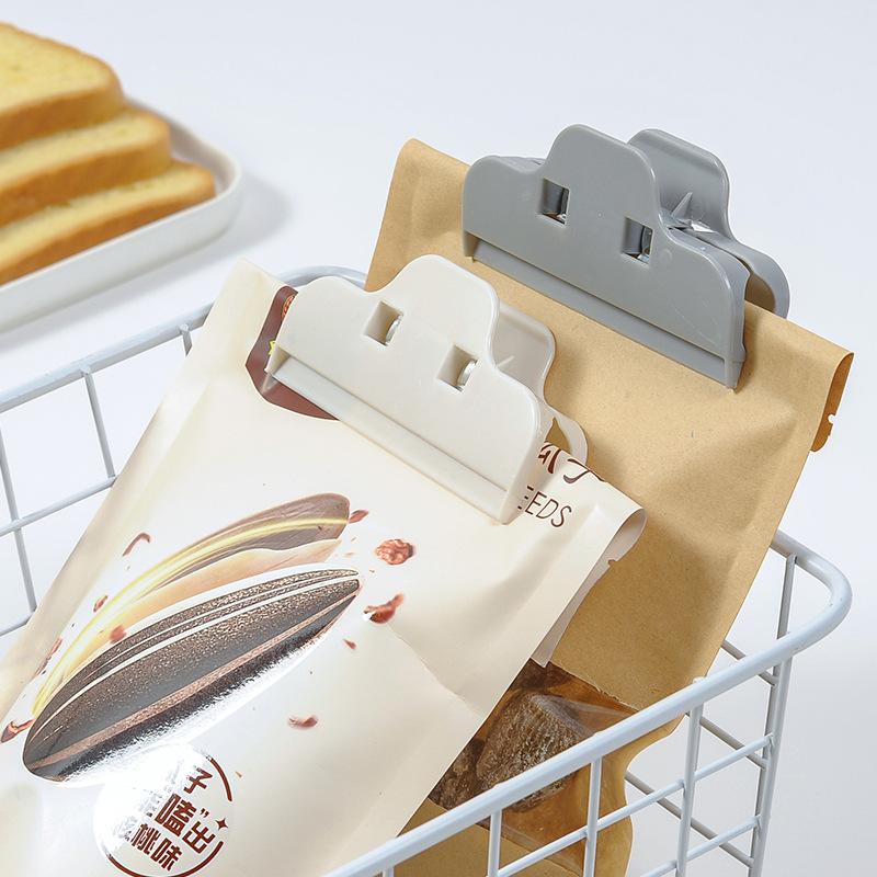 T家用零食干果食品封口夹 塑料大号防潮塑料袋封口夹子零食密封夹