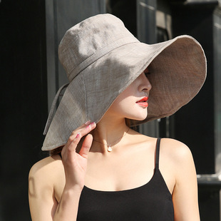 Net red ins big along the fisherman hat female summer Korean version of the hundred towers sunscreen sun hat Japanese soft sister literary beach basin hat