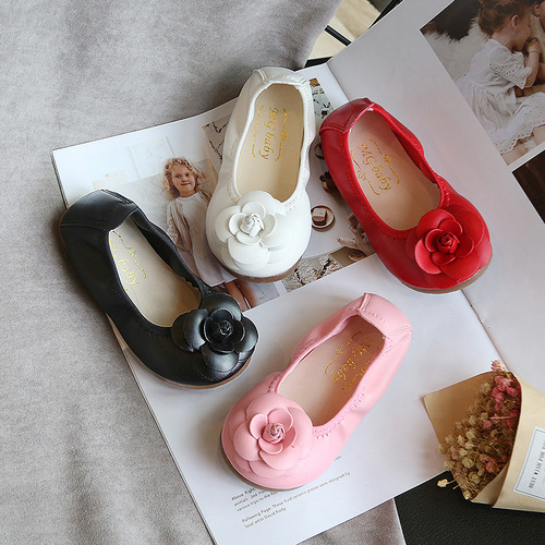 Girls Stage performance princess soft-soled butterfly camellia ballet dance shoes children chorus performance soft-soled shoes