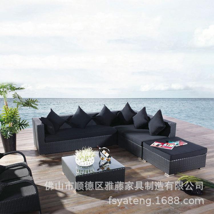 伊人花园休闲藤北欧沙发椅PE仿藤转角藤椅沙发客厅组合厂家直销