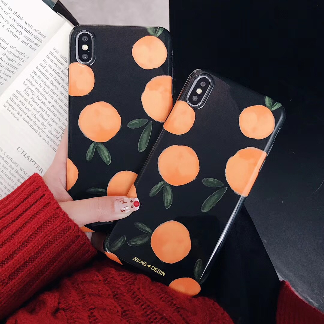 Applicable iPhone8plus mobile phone shell simple small fresh fruit apple X soft shell 7p ultra-thin matte 6s female models
